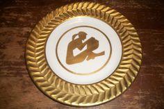 restaurant china shenango company gold ware hotel silhouette ornate plate