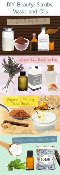 DIY Beauty: Scrubs, Masks and Oils #recipe #tutorial #how-to #mothers_day by flora