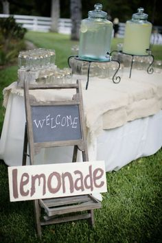 Mason jars, chalkboards, and Lemonade!!