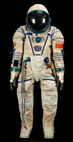 Sokol KV-2 spacesuit worn by Gennadi Strekalov during a 1990 mission to the Mir space station