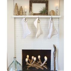 """""""The @dreamywhiteslifestyle stockings were hung by the chimney with care... #edbdesigns , #santabarbara , #christmasdecorations , #TheLittleGlassHouse"""" Photo taken by @edbdesigns on Instagram, pinned via the InstaPin iOS App! http://www.instapinapp.com (12/18/2015)"""