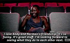 janel-moloney:Danai Gurira and Andy Lincoln on Behind the Dead – The Walking Dead