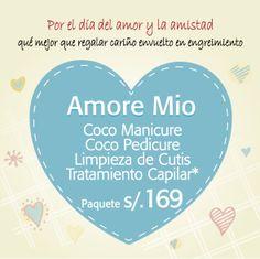 Para tu Amore: Coco manicure&pedicure, limpieza de cutis y tratamiento capilar, todo s/169. #certificadoderegalo #sanvalentín #regaloideal