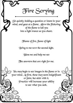 Flame Witch: #Flame #Witch ~ Fire Scrying.