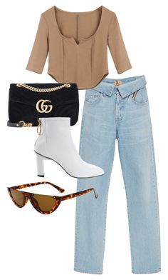 """jetset"" by florencia95 ❤ liked on Polyvore featuring Jean Atelier and Gucci"