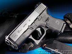 Glock 27 Gen 4.  .40 S  - Elliot uses a Glock. I'm not sure if this is the exact model