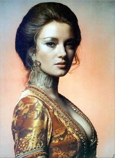 """Jane Seymour in """"Live and Let Die"""", 1973"""