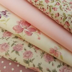 5 piece fat quarter bundle, cotton poplin fabric - pretty pink florals, dusky pink polka dot, Ideal fabric bundle for sewing patchwork quilting. Always Knitting & Sewing, Online Fabric Shop. Tissu Style Shabby Chic, Tela Shabby Chic, Shabby Chic Fabric, Fat Quarters, Patchwork Quilting, Fabulous Fabrics, Fabric Shop, Fabric Patterns, Fabric Crafts