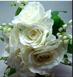 White rose, Lily of Valley