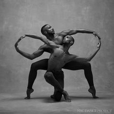 "exguyparis: "" Sean Aaron Carmon and Michael Jackson Jr, Alvin Ailey American Dance Theater. NYC Dance Project: photo by Deborah Ory and Ken Browar. """