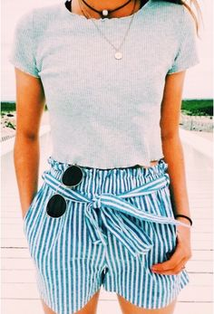 Casual outfits for Teens Summer Fashion Outfits, Cute Summer Outfits, Teen Fashion, Spring Summer Fashion, Spring Outfits, Trendy Outfits, Girl Outfits, Cute Outfits, Ootd Spring