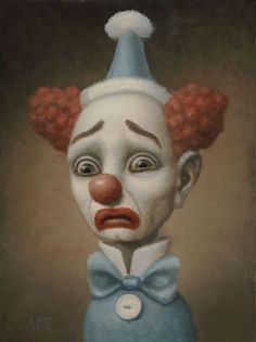 alicesweetalice:  Marion Peck - baby heart Marion Peck, Clown Paintings, Joker Comic, Beautiful Fantasy Art, Creepy Art, Ap Art, Pop Surrealism, Artist Trading Cards, Surreal Art