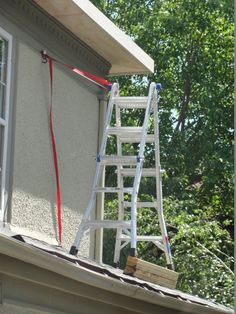 """""""You look out for OSHA, I'll paint the soffit.""""  - One of the crazier ladder settings we've observed while inspecting a house."""