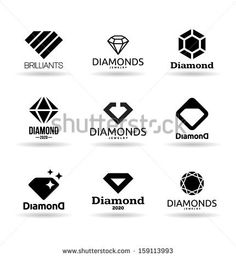 Diamond logo design ideas for the jewelry business www. Gem Logo, Jewel Logo, Jewelry Store Design, Jewelry Stores, Jewellery Logo Design, Inspiration Logo Design, Design Ideas, Career Inspiration, Cheap Logo