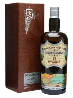 Uitvlught Demerara 1993 Rum / 18 Year Old / Bot.2011 : Buy Online - The Whisky Exchange - A 1993 vintage rum from the Uitvlugt distillery (spelled Uitvlught on this bottle) in Guyana, since closed and amalgamated with the other distilleries on the island under tha banner of Demerara dis...