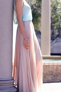 love that pink skirt