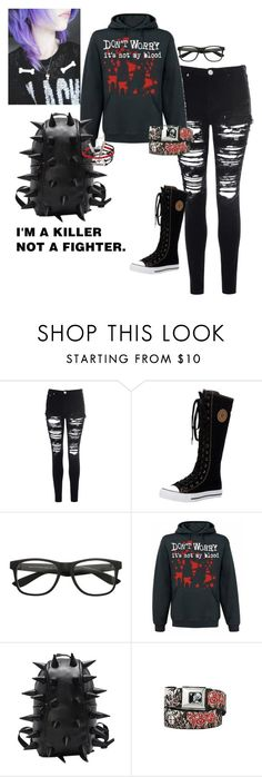 """""""Emo"""" by kaitlyn-mcalister ❤ liked on Polyvore featuring Glamorous, women's clothing, women's fashion, women, female, woman, misses and juniors"""