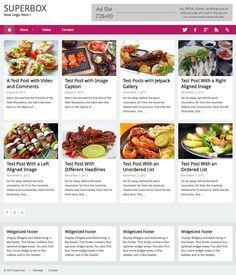 WordPress Foodie Theme - Superbox