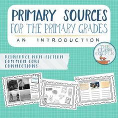 Primary sources are an integral part of understanding historical and modern events. This introduction for the primary grades, with accompanying worksheets, help students build their awareness of primary sources. It also helps them realize that they create a historical footprint on a daily basis. ***If you like this unit by The Class Couple, please check out these other
