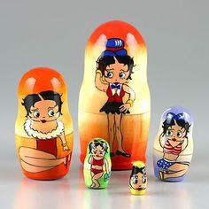 "Betty Boop Nesting Doll 3 1/2"" Tall"