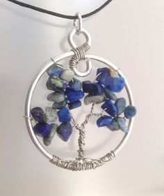 Lapis Lazuli Tree of Life Pendant Necklace by SweetfireCreations Tree Of Life Pendant, Make You Smile, Lapis Lazuli, Etsy Shop, Pendant Necklace, Trending Outfits, Unique Jewelry, Handmade Gifts, Blog