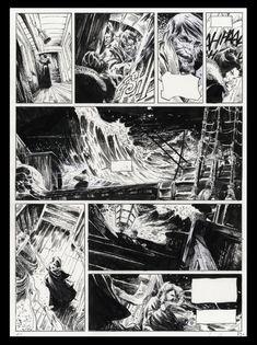 Lauffray Long John Silver par Mathieu Lauffray - oeuvre originale