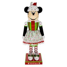 Disney Minnie Mouse Cupcake Nutcracker Figure 14'' Holiday New with Box