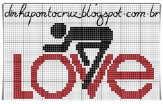 Hand Embroidery Stitches, Cross Stitch Charts, Pixel Art, Logos, Fictional Characters, Spinning, Bicycle, Fitness, Easy Cross Stitch