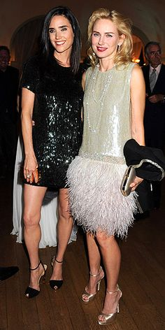 JENNIFER CONNELLY & NAOMI WATTS  Wonder if this is what they wear to PTA meetings. The two N.Y.C.-based moms take a night off to party with Gucci and Vanity Fair at the famed Hotel du Cap, both wearing head-to-toe, one-of-a-kind Gucci ensembles, with Naomi topping hers with Chopard diamonds.