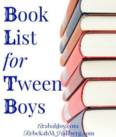 WOW! Over 99 books on this stellar book list for tween boys! This list will keep your boys off the electronics and buried in a book this summer instead!