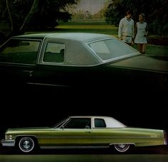 """1974 Cadillac Coupe de Ville - Mine was brown instead of green. Really though I """"had arrived."""""""