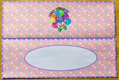 Insert for Clown DL Birthday Card for Girl by Joyce Watson