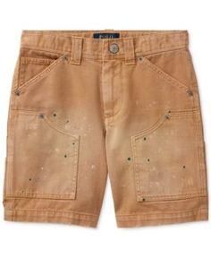 Ralph Lauren Montauk Cotton Carpenter Shorts, Toddler Boys (2T-5T) - Camel 4/4T