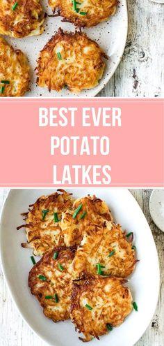 Brunch Recipes, Appetizer Recipes, Dinner Recipes, Sweet Recipes, Appetizers, Hanukkah Food, Vegetarian Recipes, Cooking Recipes, Potato Latkes