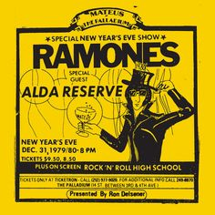 Ramones - Live at The Palladium, New York, NY (12/31/79) - Ltd. numbered Record Store Day Edn. https://www.hurricanerecords.de/index.php?cPath=31&search_word=Record+Store+Day&sorting_id=3&manufacturers_id=&search_typ= Ramones, Rock And Roll, Rock Roll