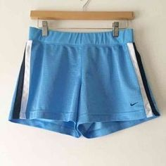 I just discovered this while shopping on Poshmark: Light blue nike sport shorts. Check it out! Price: $16 Size: S