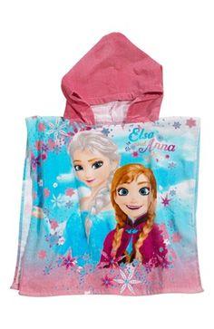 De fedeste Disney Frozen Poncho Rosa Mønstret Disney Frozen  til Børn & teenager i behageligt materiale