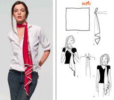 Comment faire un noeud de foulard dame, des conseils pour nouer un pashmina façon féminine, glamour, chic et bohème pour les femmes et fille fashion.
