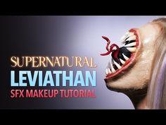 Supernatural Leviathan Halloween makeup tutorial - YouTube