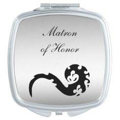 Dancing Dragon Wedding Matron of Honor Travel Mirror