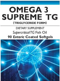 Omega 3 Supreme Tg with Enteric Coating - Triglyceride Form, 410mg Epa, 210mg DHA Per Softgel. This Is the Only Omega 3 Fish Oil Recommended By Jim Harper.