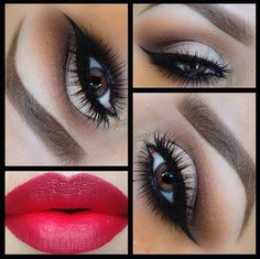 I would love this look for my Bridal make-up! I absolutely love dramatic make-up looks. Eye Makeup, Makeup Tips, Beauty Makeup, Makeup Ideas, Night Makeup, Makeup Geek, Makeup Lessons, Dark Makeup, Drugstore Beauty