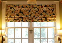 Sew Curtains Make your own no-sew faux Roman shade! using a few tension rods - Need an easy window treatment? I developed a way to make a faux Roman shade by using a piece of fabric and humble tension rods! For more information and a full… Roman Shade Tutorial, No Sew Curtains, Window Curtains, Room Window, Gypsy Curtains, Faux Roman Shades, Kitchen Window Treatments, Up House, Window Dressings