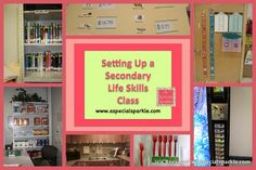 Life Skills Classroom Set Up . Setting Up A Middle School Life Skills Functional Skills Class I Life Skills For Children, Life Skills Lessons, Life Skills Activities, Life Skills Classroom, Teaching Life Skills, Teaching Special Education, High School Classroom, Autism Classroom, Classroom Ideas