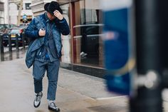 #StreetStyle  #London  The Best Street Style From London's Fall 2017 Men's Shows