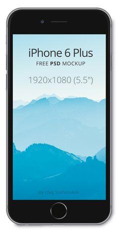 iPhone 6 Plus - Free PSD Mockup - 365psd