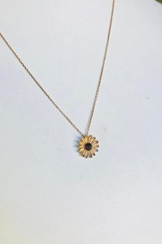 Celestina's Choise: Rose Gold Daisy Necklace For Womens, Rose Gold Flower Necklace For Her, Solid Gold Necklace, White Gold Necklace, Labor Day Sale by AniJewelryDesign - Modern Daisy Necklace, Floral Necklace, Solid Gold, White Gold, Baltic Amber Necklace, Gold Flowers, Diamond Pendant, Rose Gold, Gold Necklaces