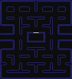 Pacman blank screen hi res for cake template