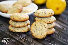 Gluten-Free Vegan Lemon Chia Seed Cookies (Vegan, Gluten-Free, Dairy-Free, Flourless, Egg-Free, Soy-Free, Paleo-Friendly, No Refined Sugar)