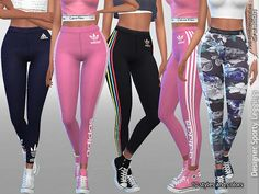 Sims 4 CC's - The Best: Designer Sporty Leggings Collection 01 by Pinkzomb...
